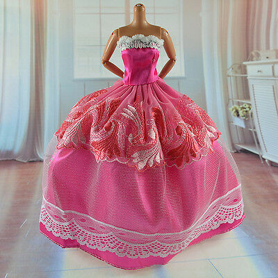 lovely New Handmade Party Clothes Fashion Dress for Noble Barbie Doll   *&*bab35