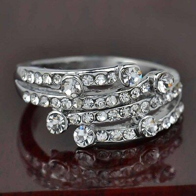 Hot sale new fashion inlaid upscale jewelry S80 Silver CZ rings    **R415-9