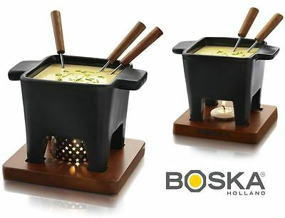 Boska Black Tapas Cheese Fondue Sets in Small or Large Size