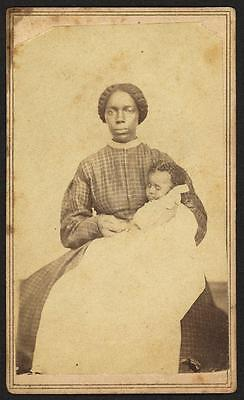 African-American Georgia 1899 Black Mother and Slave child baby reprint 5 x 7