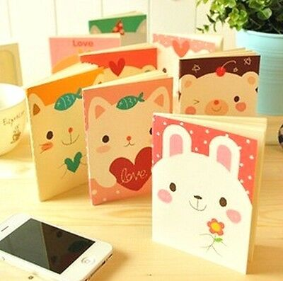 FD1029 Student Diary Note Book Kawii Animal Stationery Memo Notepad Random ~1pc
