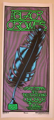 2008 The Black Crowes w/ Grace Potter - Silkscreen Concert Poster S/N by Martin
