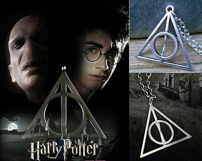 Fashion The Deathly Hallows Charm Pendant Chain Necklace Jewelry Jf1804