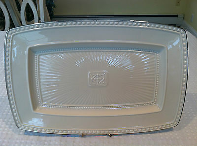"Gorgeous LENOX PLATINUM Rectangular 16"" Serving Platter EXCELLENT Condition"