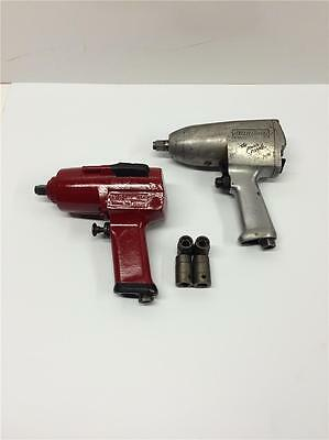"""Vintage Heavy Duty Snap On Impact Wrench Lot 1/2"""" Drive IM-51A IM-5 & Sockets"""