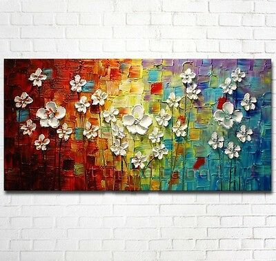 RARE! Modern Abstract Art Oil Painting Wall Deco Canvas Size:24x48=1P