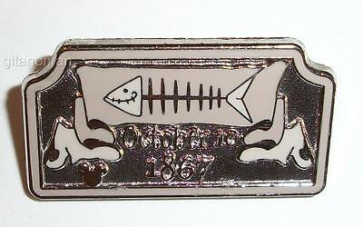 Disney DLR 2009 Cast Hidden Mickey Series Haunted Mansion Tombstone - Fish Pin