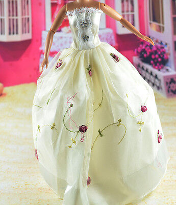 lovely New Handmade Party Clothes Fashion Dress for Noble Barbie Doll   **bab10