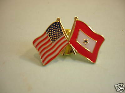 Loved One In Military Pin Blue Star USA Flag Tie Tac Army Navy Air Force Marines