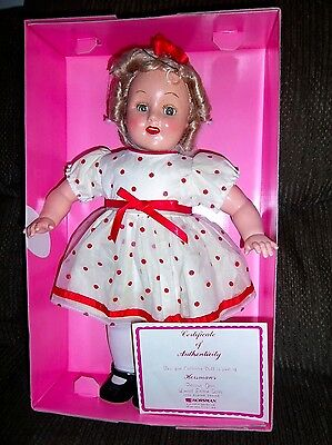 Vintage Horsman Bright Star Shirley Temple Reproduction 18 Inch Doll 1995