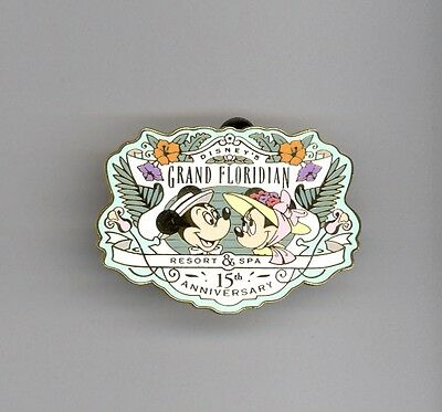 15th Disney World Grand Floridian Hotel Resort & Spa Minnie Mickey Mouse LE Pin