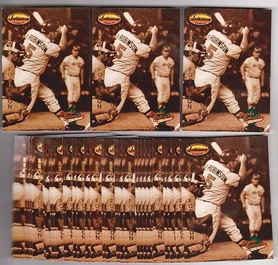 Lot of 50 1993 Ted Williams Company BROOKS ROBINSON Collection #BR9 Insert Cards