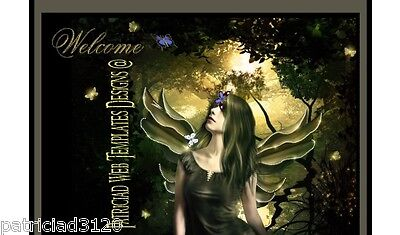 Auction Template ANIMATED Fairy Magic Butterflies/Music