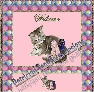 Auction Template Animated Kitty And Fairy LOVELY DESIGN!