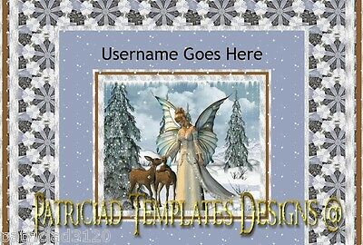 Auction Template Animated Winter Fairy Free Music