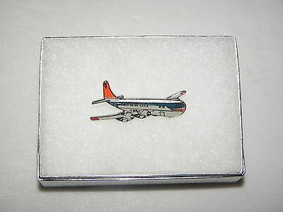 NORTHWEST AIRLINES STRATOCRUISER B377 AIRPLANE LAPEL TAC PIN NWA PILOT GIFT