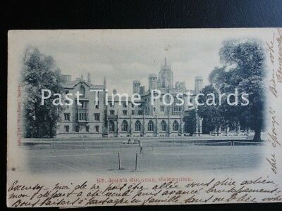 Cambridge - St. Johns College showing Grass Tennis Courts c1913 by Wyndham 2969