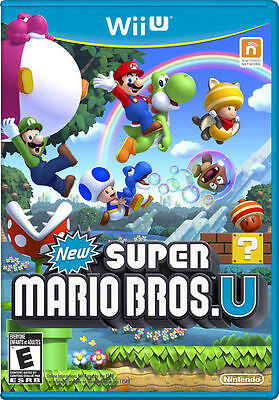 New Super Mario Bros U Wii U  Factory SEALED! NEW FREE Shipping!