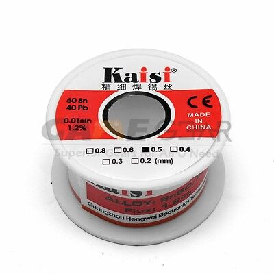0.5mm 50G 60/40 Rosin Core Flux 1.2% Tin Lead Roll Soldering Solder Wire
