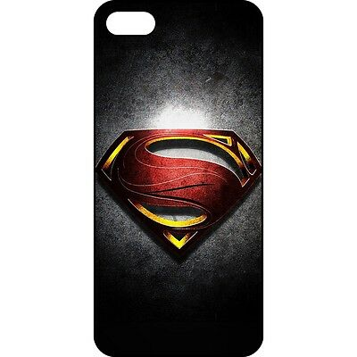 TI5C70 Retro Superman Pattern Black IMD Hard Back Case Cover For Apple iPhone 5C