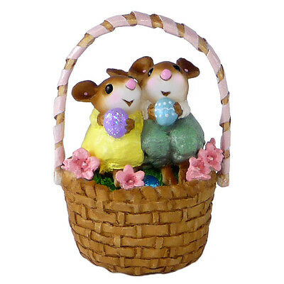 COZY EASTER COUPLE by Wee Forest Folk, WFF# M-523 New Easter Mouse for 2015