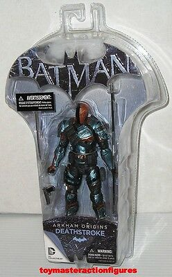 DC COLLECTIBLES ARKHAM ORIGINS SERIES DEATHSTROKE FIGURE Sealed MIMP IN STOCK
