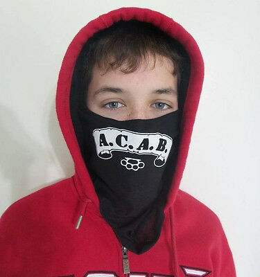 ACAB Biker face cowl thick face covering neck sock  3 in 1 Mask