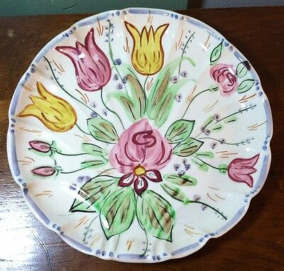 Blue Ridge Southern Potteries  NOVA ROSE Flat Shell Bonbon Plate Tray