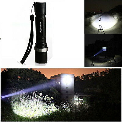 High Power 7W 500LM Zoomable Cree Q5 Rechargeable Police Led Flashlight Torch