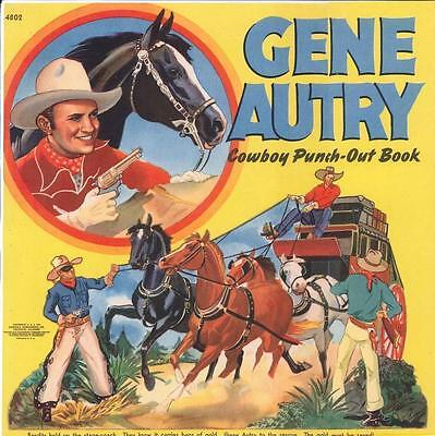 Vintge Uncut 1940S Gene Autry Paper Dolls Hd Laser Reproduction~Lo Pr