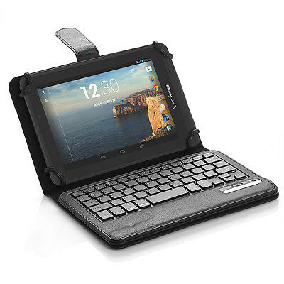 PU Wireless Bluetooth Keyboard Stand Cover Case For Verizon Ellipsis 7 inch