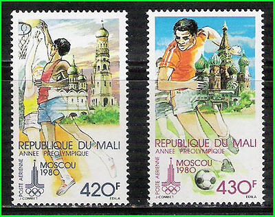 MALI - 1980 OLYMPIC GAMES MOSCOW - 2V - MINT NH