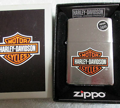 Zippo Lighter Harley Davidson motorcycle cigarette new  in box  free shipping