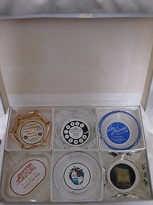 Vintage Brown & Bigelow Plus Sales Ash Tray Line Salesmans Sample Box 6 Ashtrays