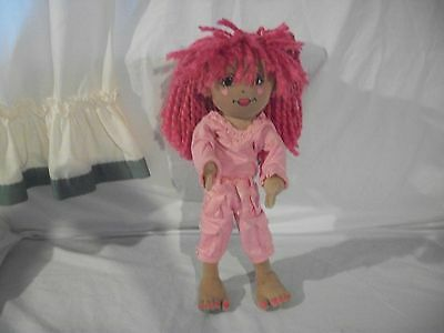 BUILD A BEAR FRIENDS 2B TO BE MADE TALKING STUFFED DOLL PINK HAIR DRESSED CUTE