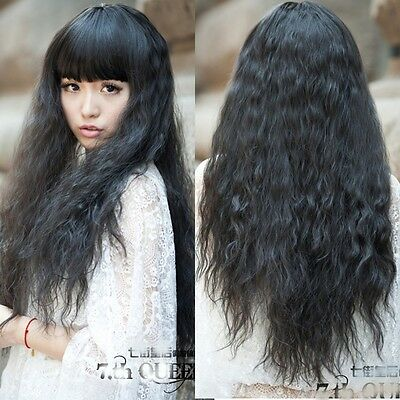 Fashion Sexy Women Weave Corn Wig Long Wavy Curly Hair Cosplay Anime Full Wigs