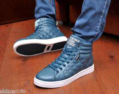 Fashion men Ankle Boots Casual lace up round toe high top sneakers US 9.5