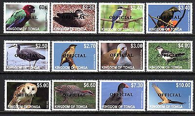 Tonga 2014 Birds O/P OFFICIAL Set 12 MNH