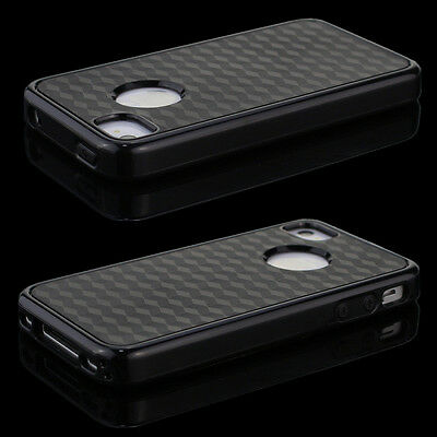New Full Cover Back Side Silicone TPU Hard Skin Case for Apple iPhone 4 4S Black