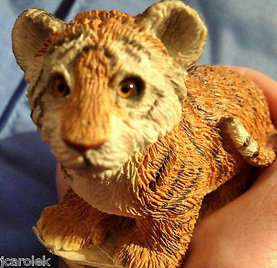 Sandicast Tiger Small Cat Figurine Sculpture New Original Retail Tag Amber Eyes