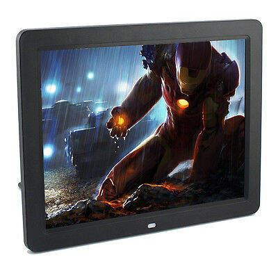 LA 12inch LED Digital Photo Picture Frame 7 10 15 MP3 MOVIE 800*600 Black New US