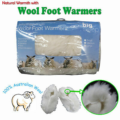 Wool Foot Warmers by Big Sleep Great for Winters Men Women Size S M L