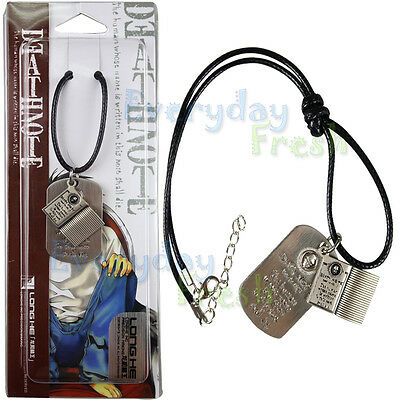 NEW Death Note L Notebook Anime Cosplay Necklace Dog Tag Pendant Accessories