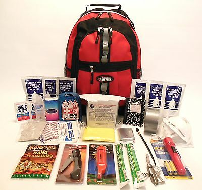 3 DAY EMERGENCY SURVIVAL KIT BUG OUT DISASTER  DITCH BAG FOOD & WATER ZOMBIE