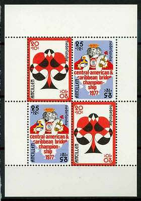 14-11-00280 - Netherlands Antilles 1977 SG  MS637 SS 100% MNH - Playing Cards