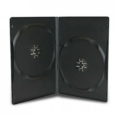100 SLIM Black Double DVD Cases 9MM