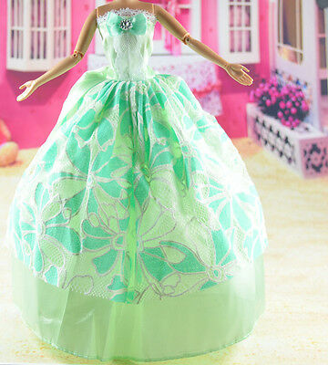 lovely New Handmade Party Clothes Fashion Dress for Noble Barbie Doll   **bab04