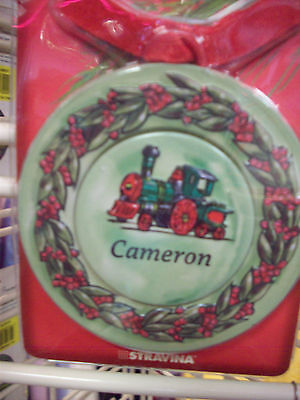 CAMERON Personalized Metal Christmas Ornament, Magnet w Photo Insert  4-in-1 NEW