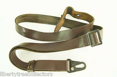 German Military Leather Sling with Hardware