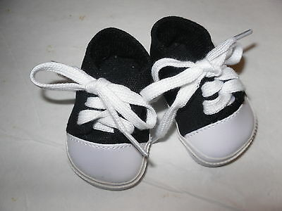 "Black Sneakers  Doll Clothes Shoes fits 18""  American Girl Doll"